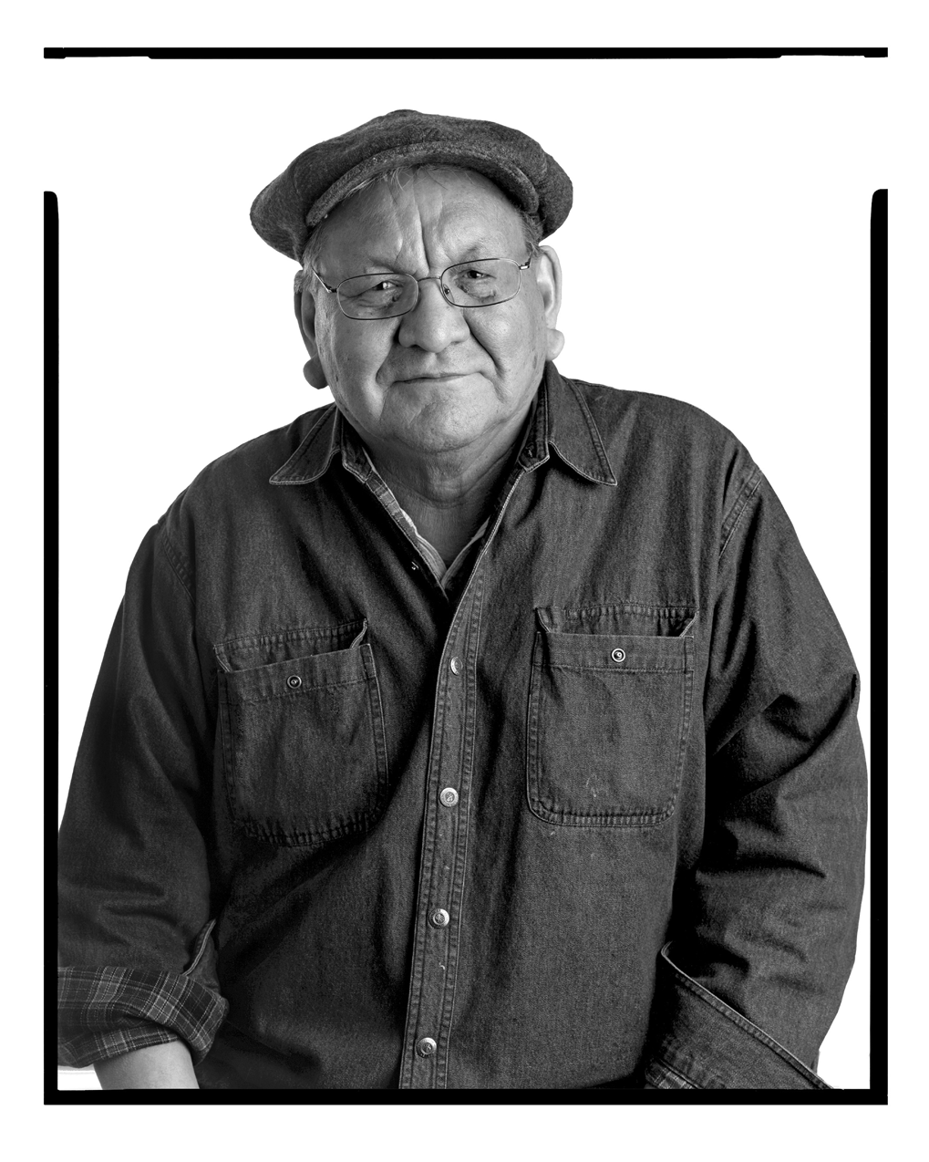 Facing the Camera: Alex Janvier, Shelley Niro, Ron Noganosh, Jeff Thomas Artist Rosalie Favell Year 2008-2011 Medium Black and white photograph  Collection of the Canada Council Art Bank