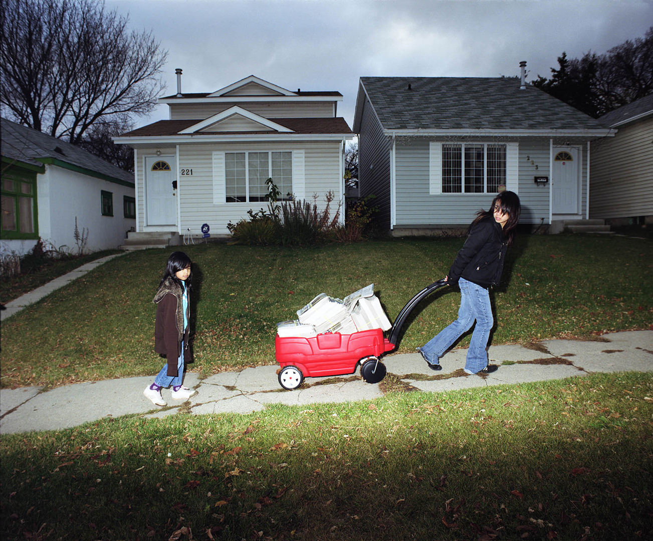 Paper Route (2009) Julie Oh (1984 - ) Colour photograph  Collection: Canada Council Art Bank