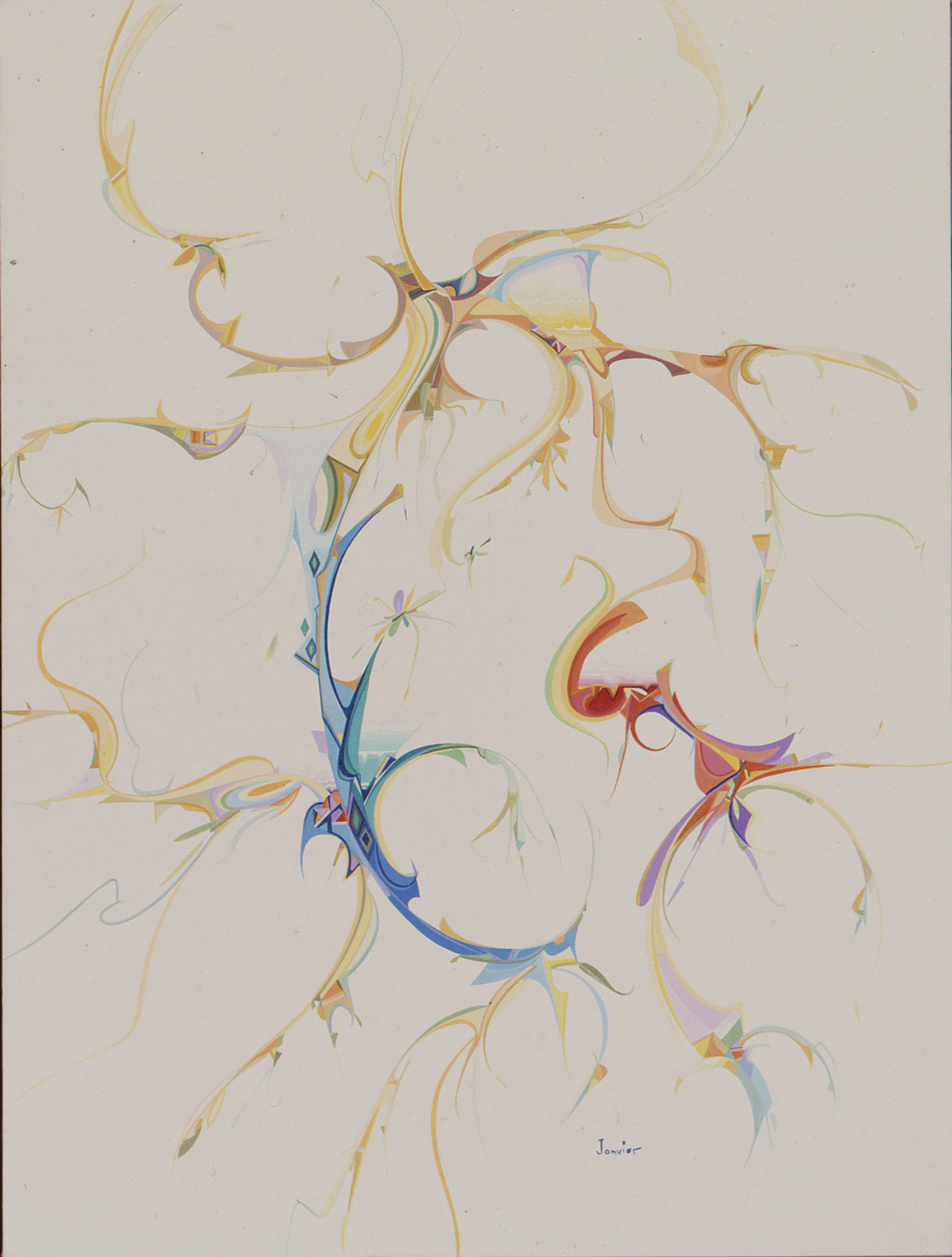 Other Worlds (1984) Alex Janvier (1935 - ) Acrylic on canvas Collection: Aboriginal Affairs and Northern Development Canada