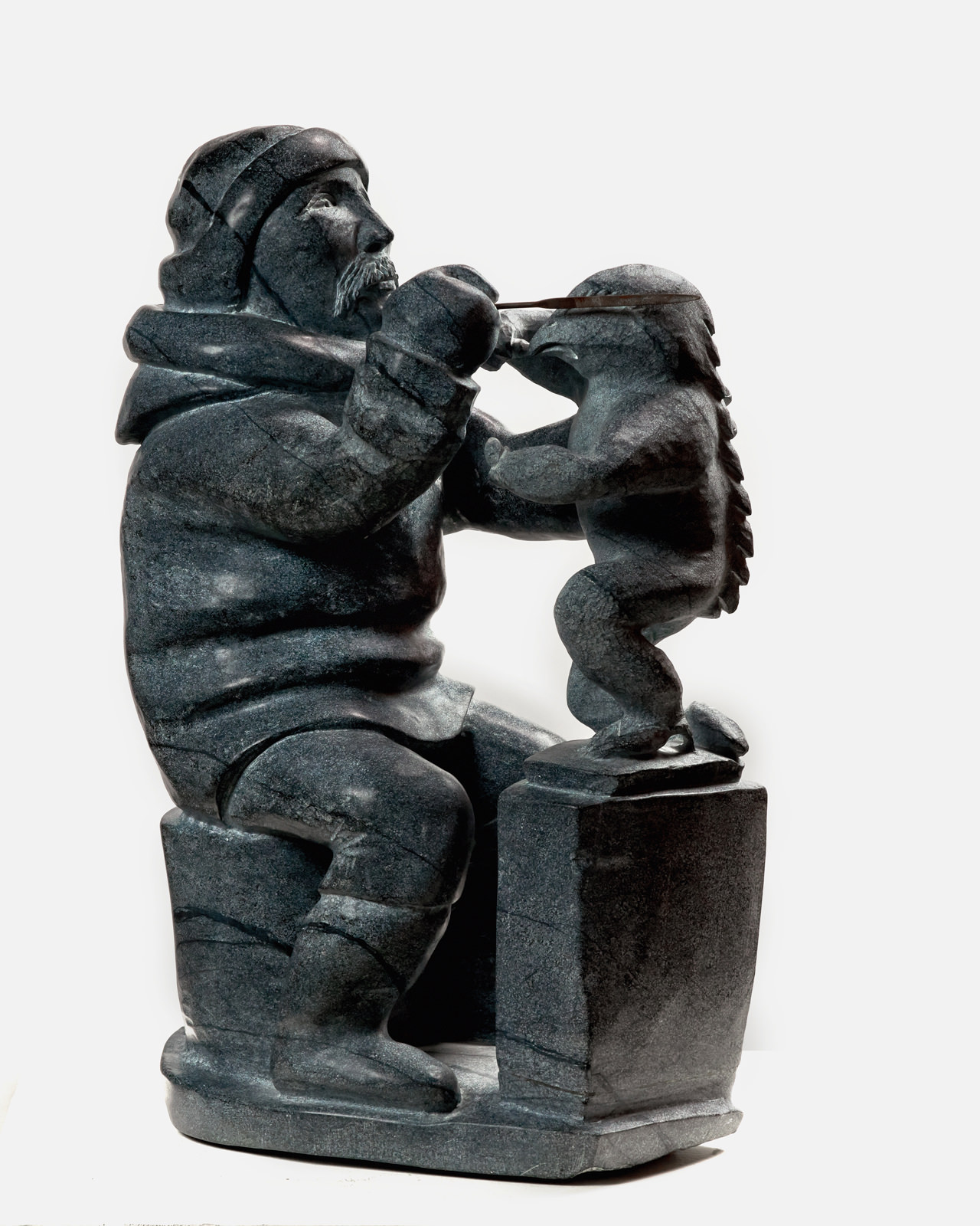 Kiawak Ashoona, Inuit Carver, My Father (2002) Goota Ashoona (1967 - ) Soapstone Collection: Canada Council Art Bank