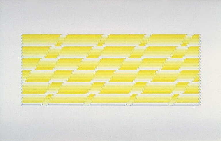 Michael Morris, Untitled I (1975). Gouache on paper.
