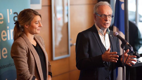 Mélanie Joly, Minister of Canadian Heritage and Simon Brault, Director and CEO, Canada Council for the Arts