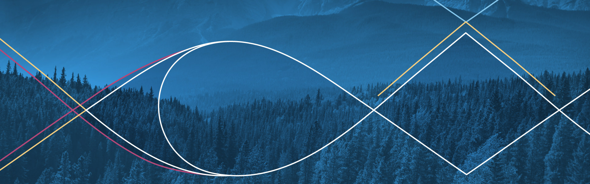 Generic banner image: forest and mountains in blue tones with thin lines flowing on top