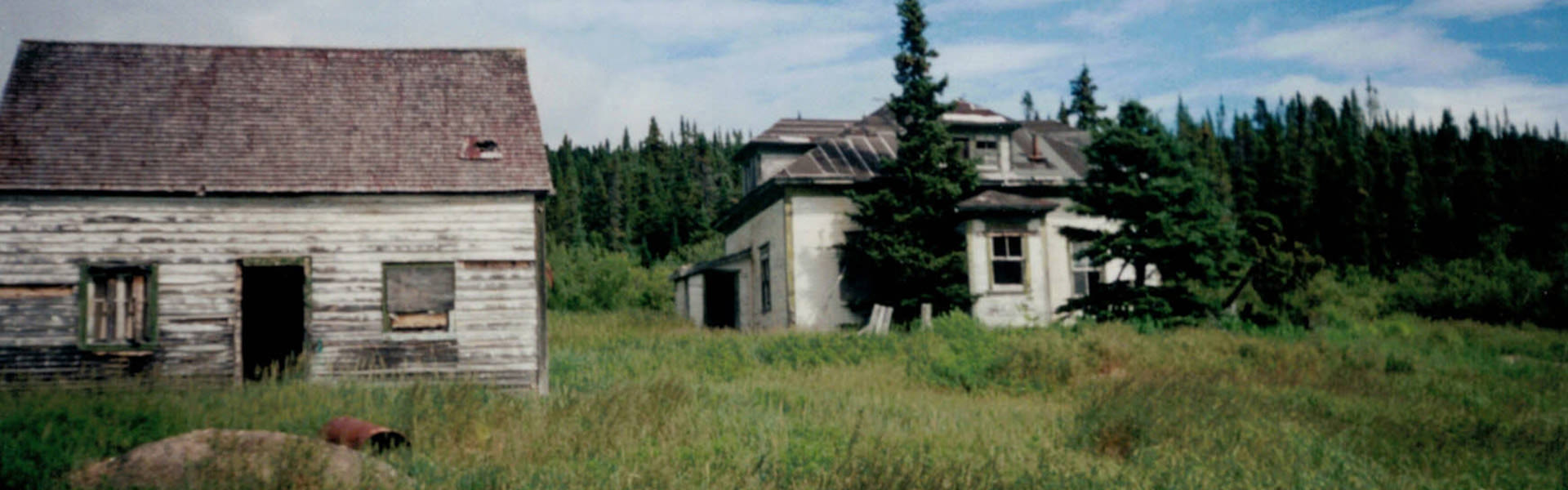 Photo of the writer's family home in Old Davis Inlet, northern Labrador.