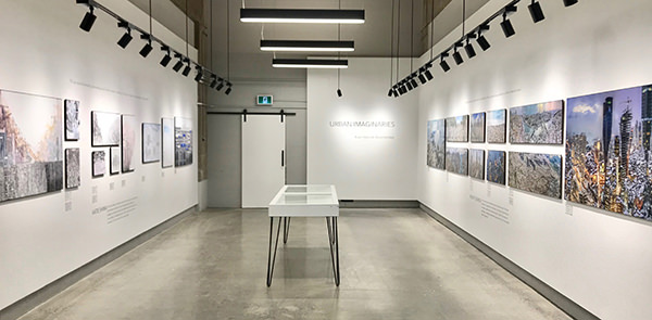 Urban Imaginaries exhibition, work by Katie Shima and Murat Germen, Lightroom Gallery, Architecture Building, Carleton University, 2017