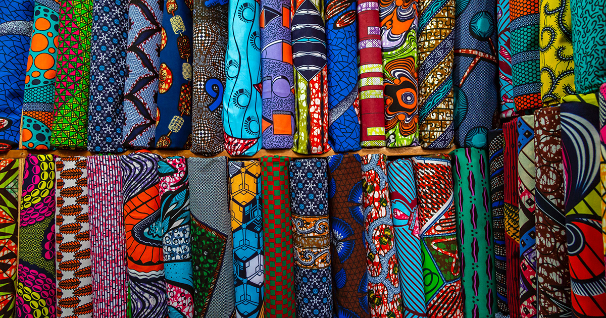 Image of colourful and patterned textiles.