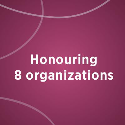 Honouring 8 organizations