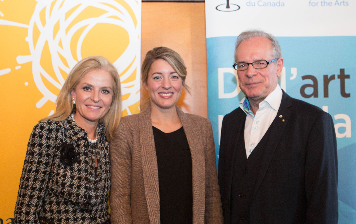 Isabelle Hudon, Minister of Canadian Heritage Melanie Joly and Simon Brault​