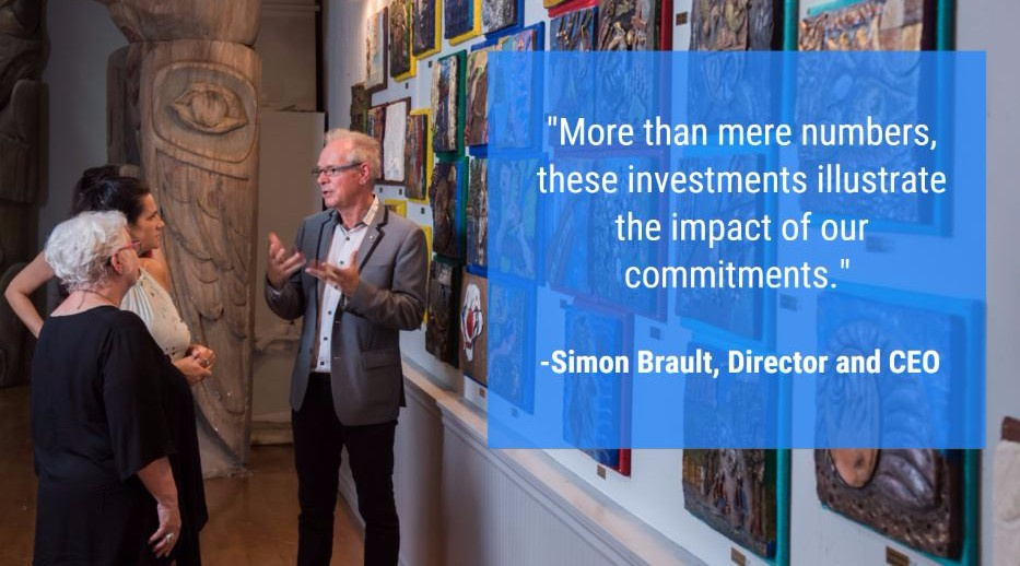 """More than mere numbers, these investments illustrate the impact of our commitments"" - Simon Brault"