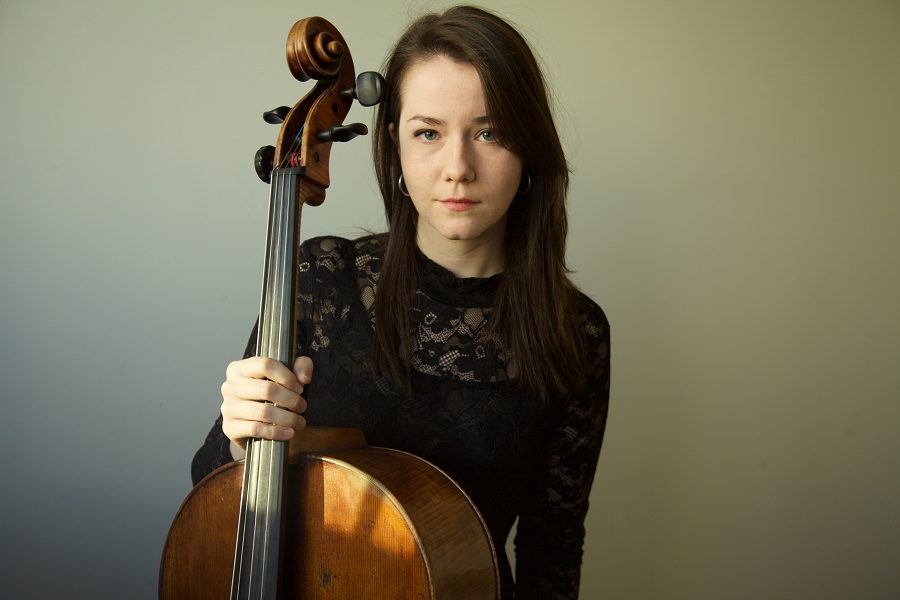 Vanessa Hunt Russell poses with her cello