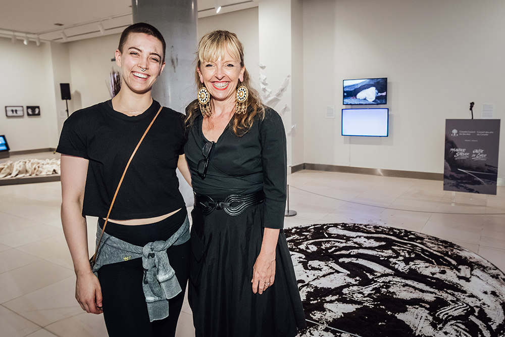 Performer Ess Hoedlmoser and curator Jenn Goodwin