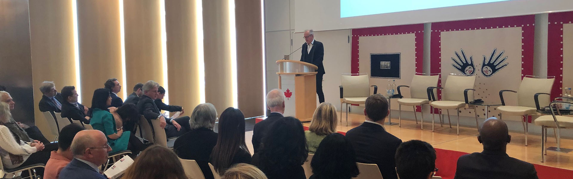 Simon Brault delivers a speech in Germany about the Canada Council's role in supporting Canada's cultural diplomacy.